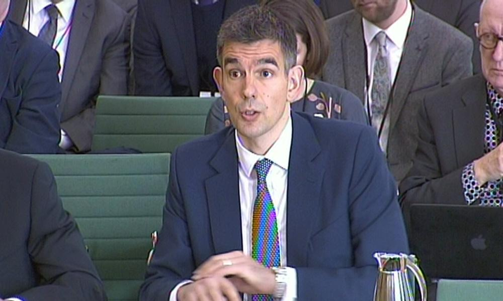 President of Google Europe, Middle East and Africa Matt Brittin gives evidence to the Commons public accounts committee