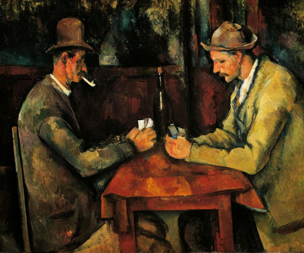 The Card Players, 1892-1895, by Paul Cezanne.