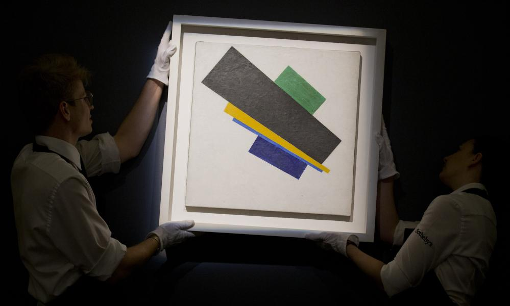 Malevich's Suprematism, 18th Construction, sold at the lower end of its estimate.