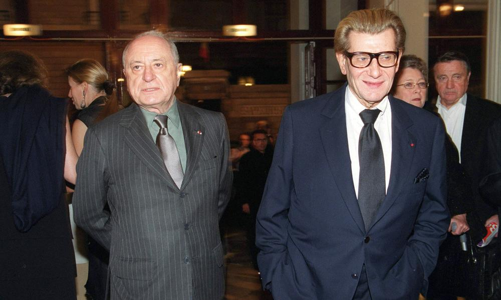 Pierre Bergeé with his former lover and business partner Yves Saint Laurent in Paris, 1999