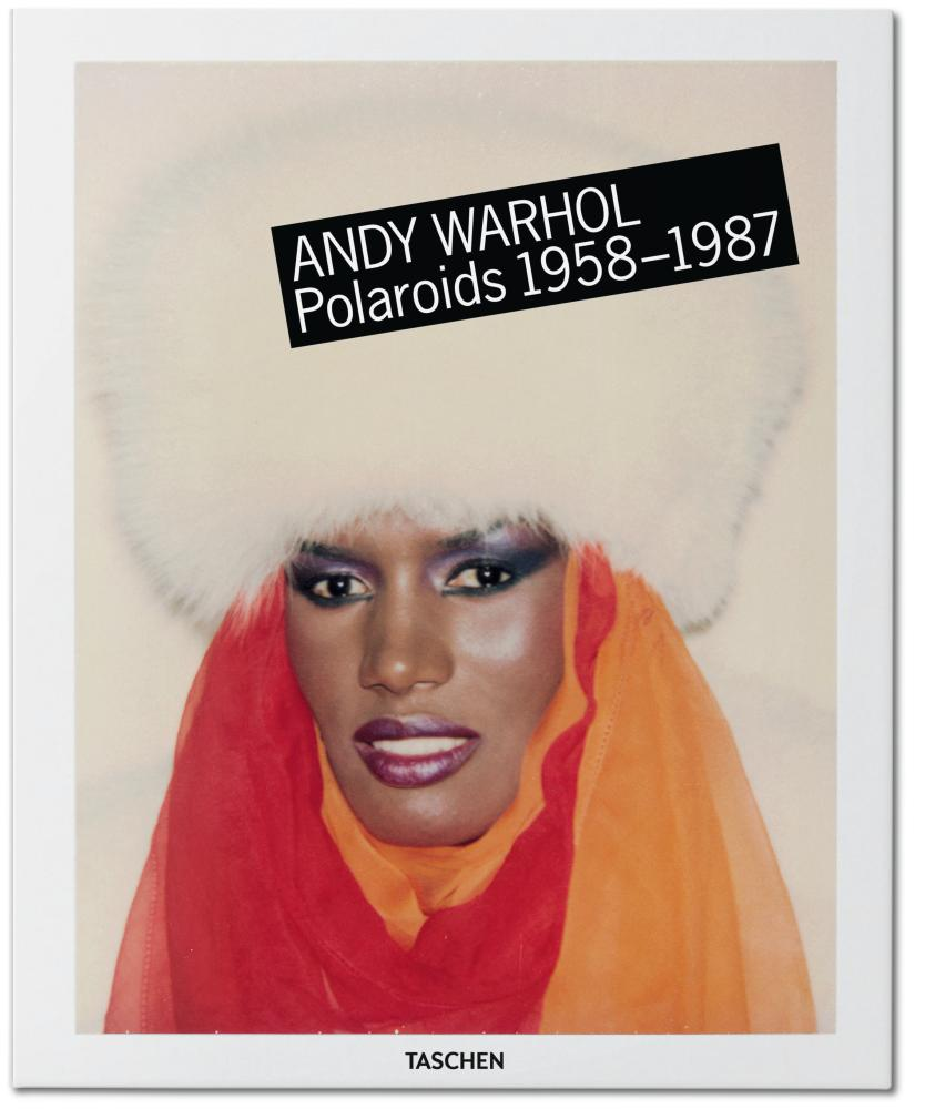 Grace Jones on the cover of Andy Warhol, Polaroids 1958-1987