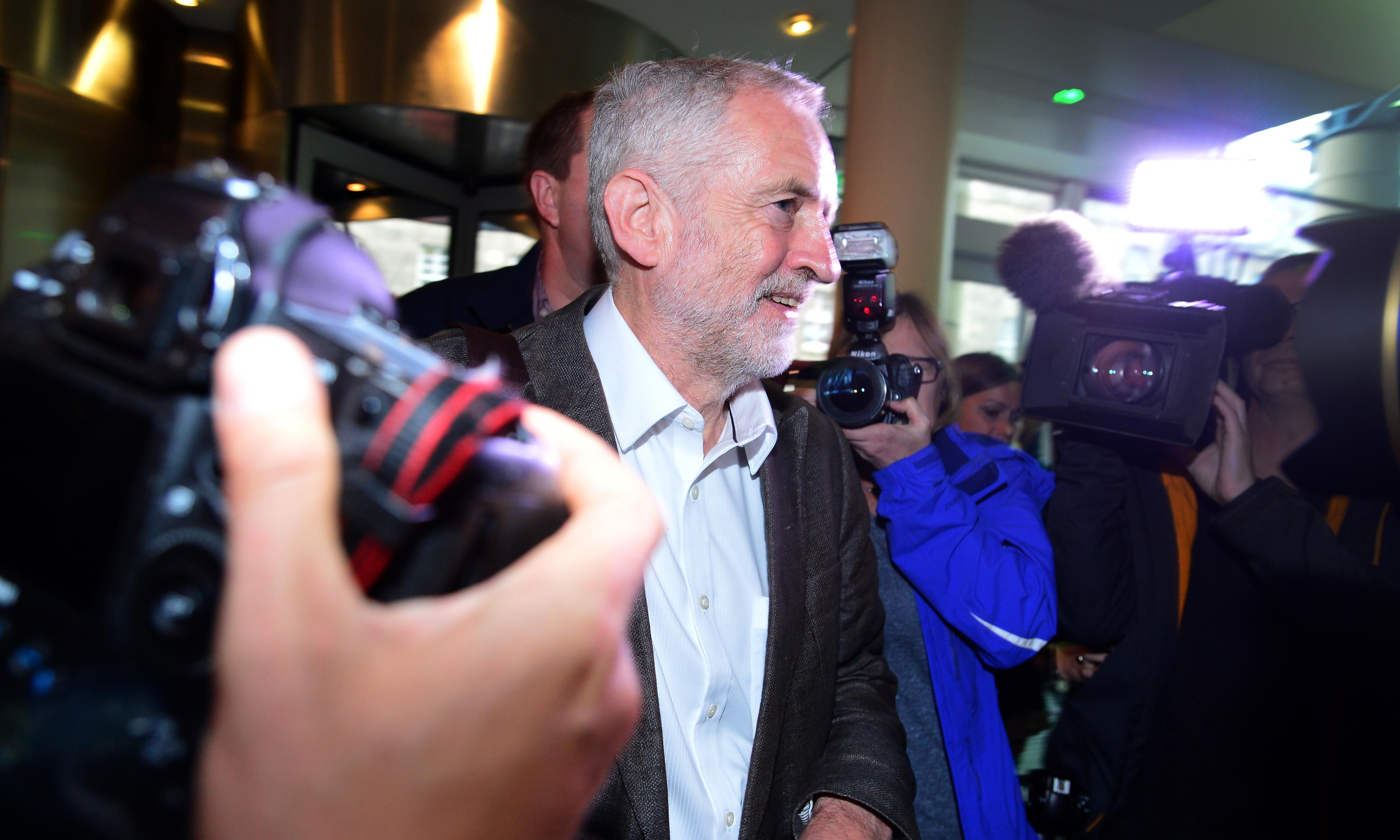 Scottish Labour campaigners rally behind Jeremy Corbyn