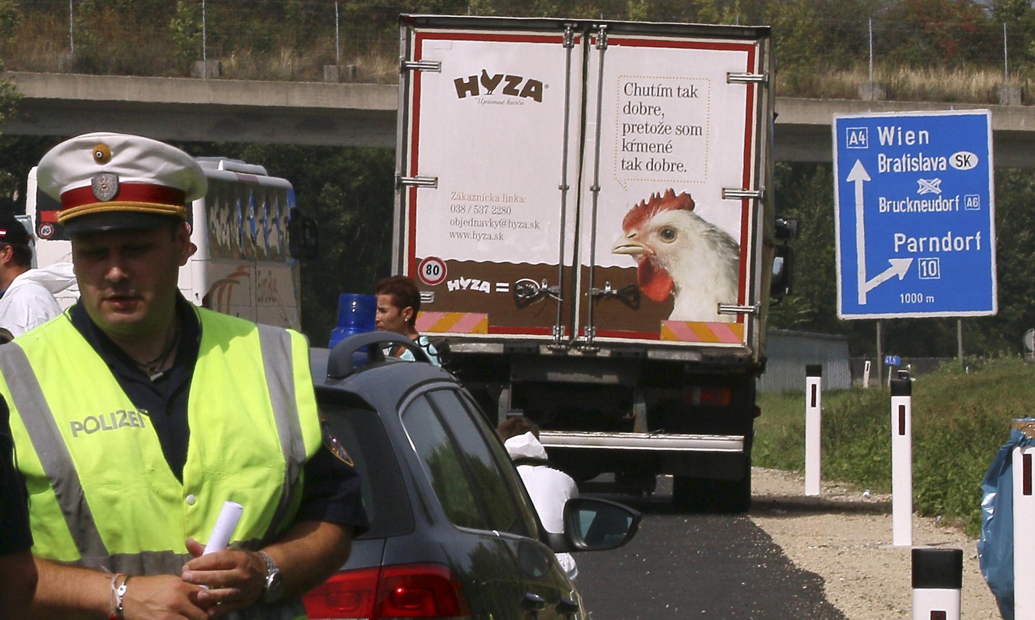 Austrian police fear as many as 50 migrants dead inside lorry
