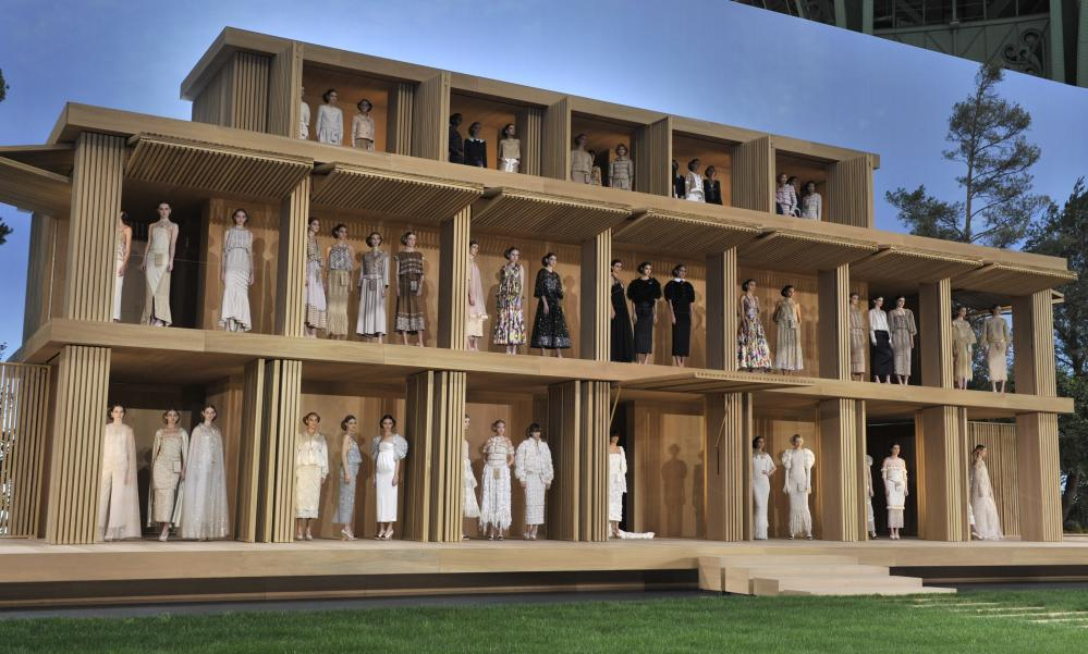 The pavilion transformed into a giant dolls' house full of models