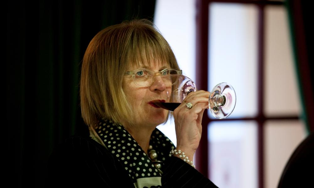 A matter of taste: Jancis Robinson at a wine tasting in Bordeaux.