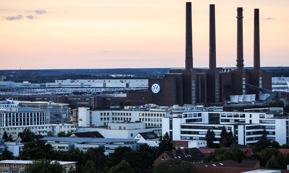 A general view of Wolfsburg, home to German carmaker Volkswagen.