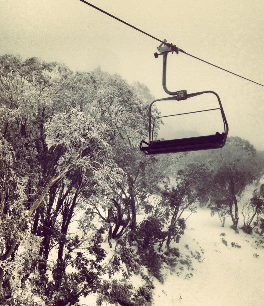 An empty ski-lift.
