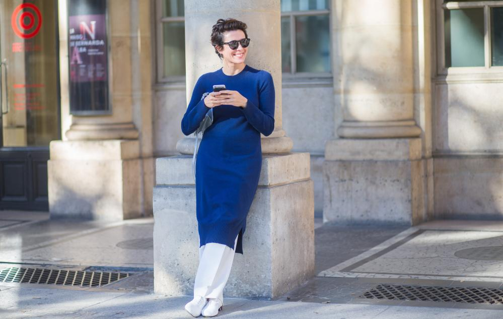 Garance Doré during the Paris Fashion Week in October 2015.