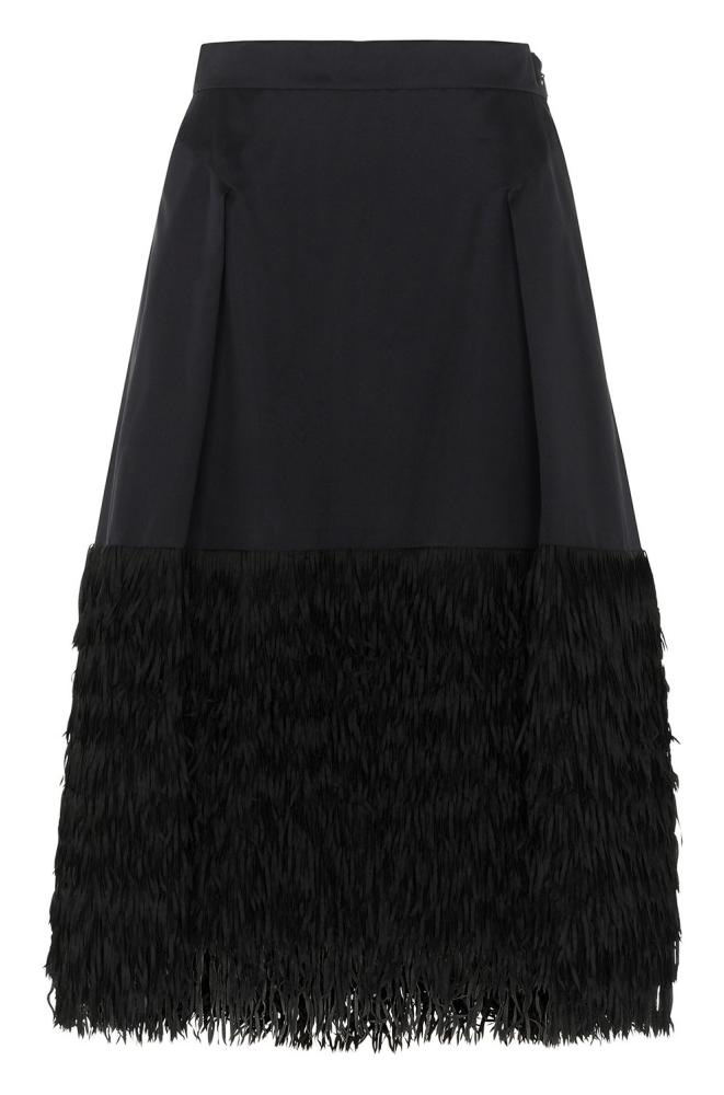 Whistles fringed organza skirt.