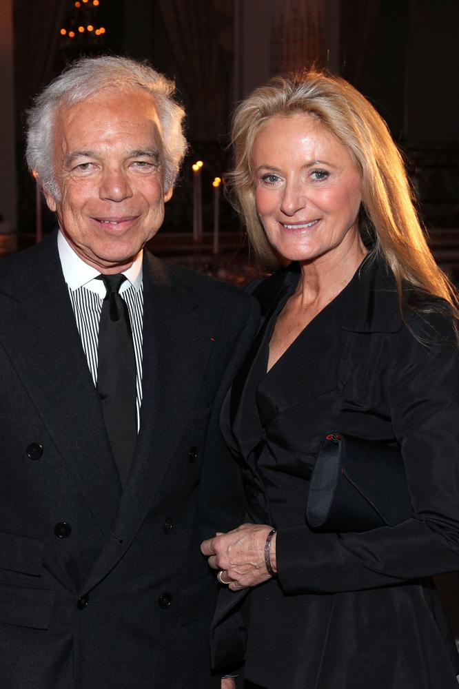 Ralph Lauren with wife Ricky.