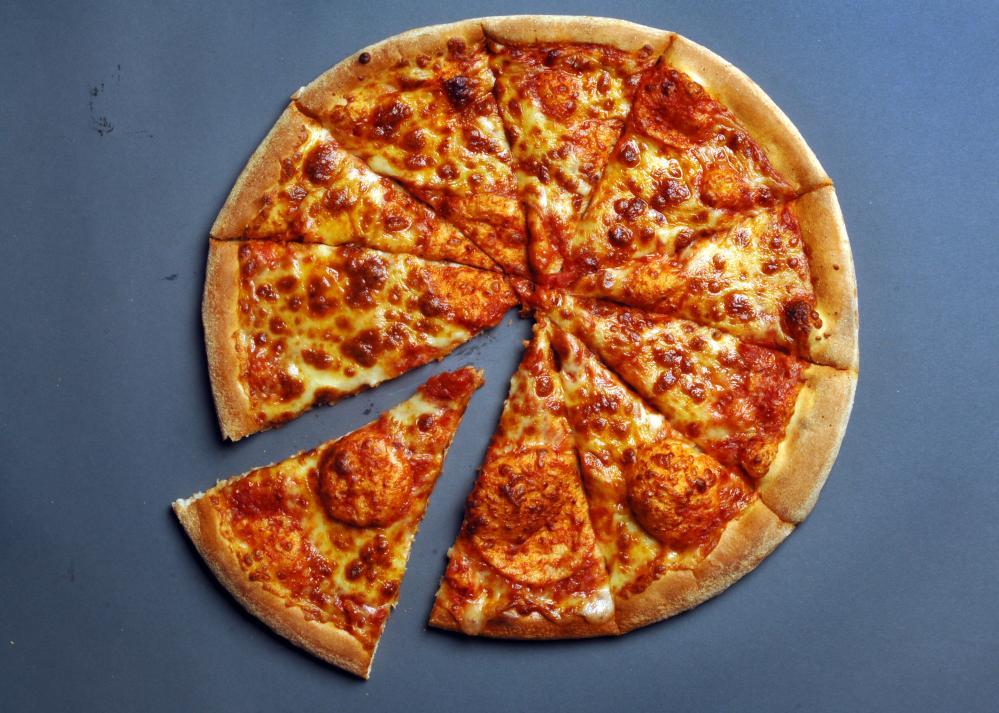 Domino's Pizza, cheese and tomato pizza