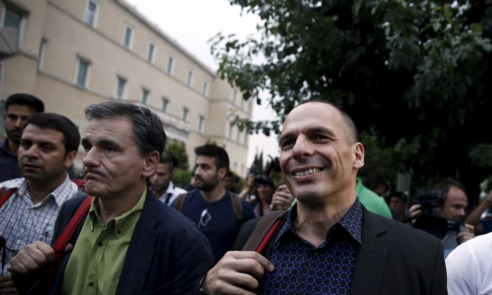 Euclid Tsakalotos (left) with Yanis Varoufakis.