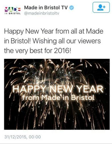 Made In Bristol TV gets a bit overexcited about 2016.