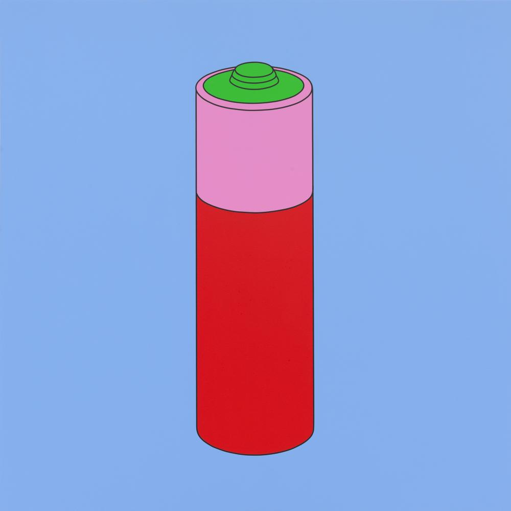 Untitled (battery) by Michael Craig-Martin (2014).