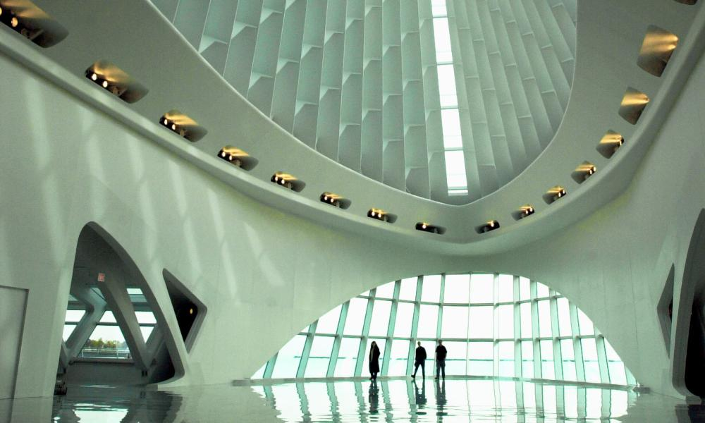 The interior of the Milwaukee Art Museum