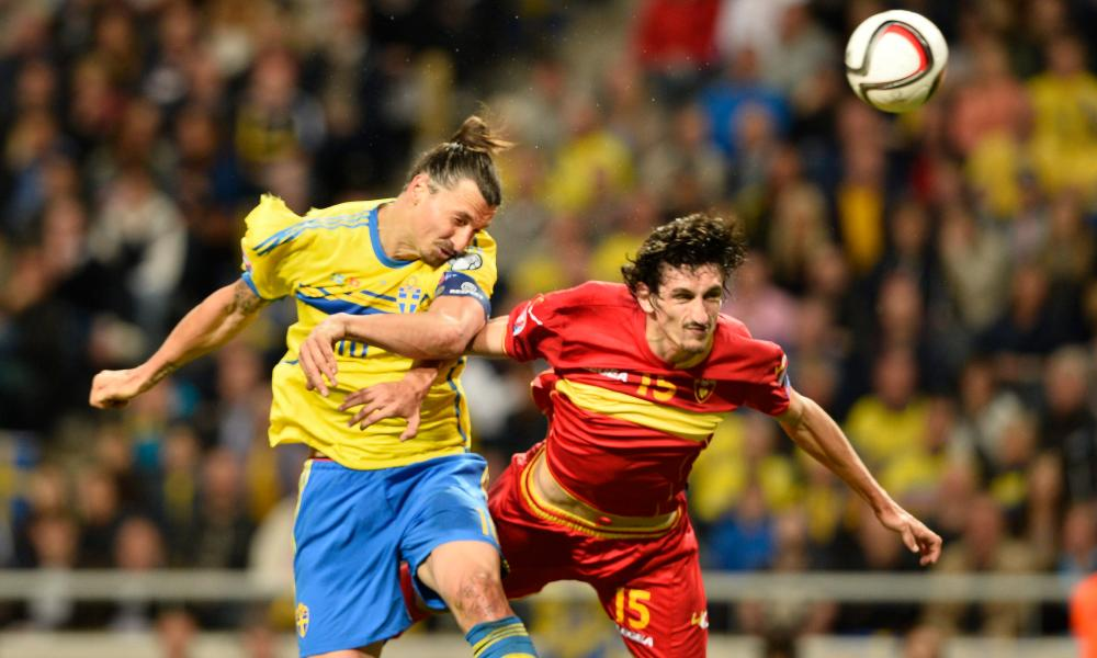 Zlatan Ibrahimovic, left, and Sweden are certain to miss out on automatic qualification if Russia take four points or more from games against Moldova and Montenegro.
