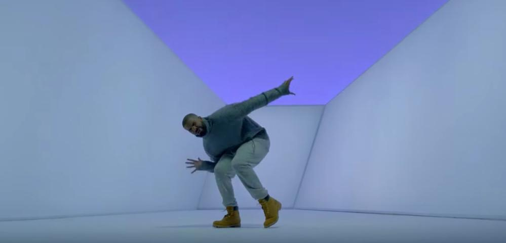 Drake shows off his Timbalands in Hotline Bling.