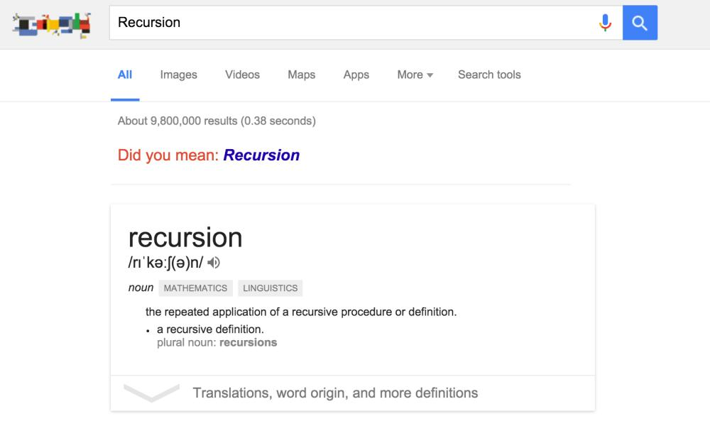 Recursive search