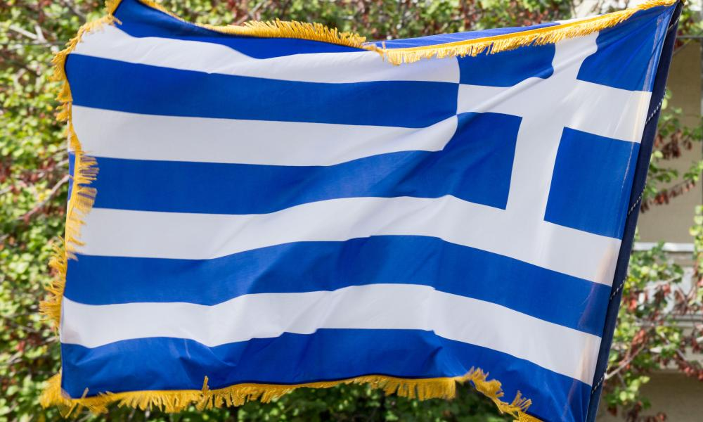 Oxi Day celebrations, Athens, Greece - 28 Oct 2015<br />Mandatory Credit: Photo by Kostas Pikoulas/Pacific Pres/REX Shutterstock (5320493d) A Greek flag waves during the parade Oxi Day celebrations, Athens, Greece - 28 Oct 2015 Students parade celebrating the ''Oxi Day'' during the 75th anniversary of Greece's entering WWII, after denying the Italian ultimatum to enter Greek soil in 28th October 1940.
