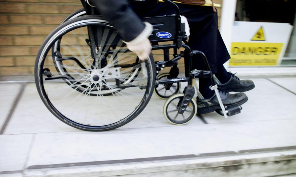A person in a wheelchair