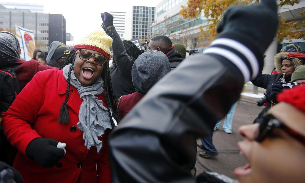 A protest in Ferguson.
