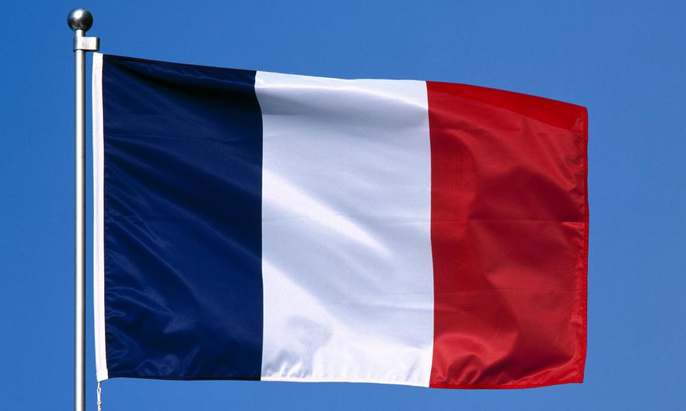 Close-up of French flag<br />A63GGC Close-up of French flag