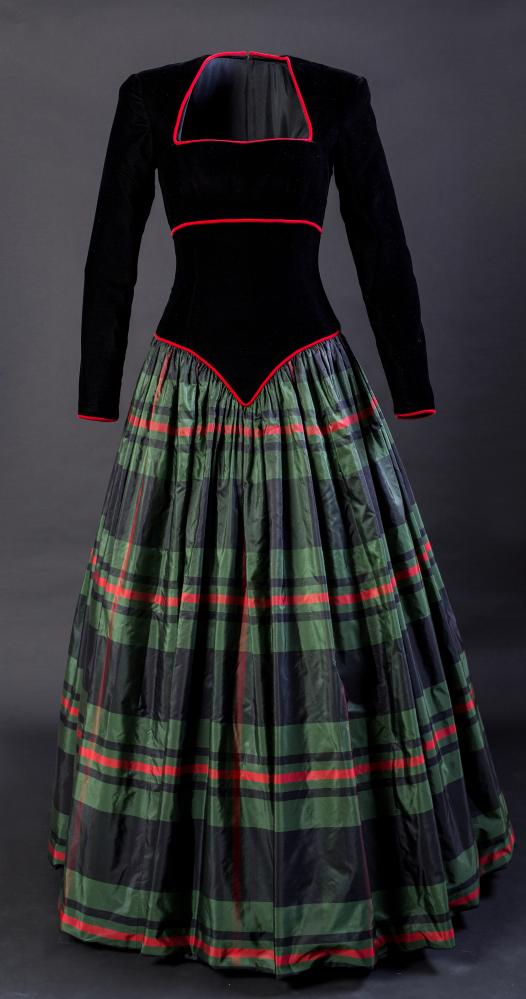 A dress by Catherine Walker designed for Diana Princess of Wales in 1990.