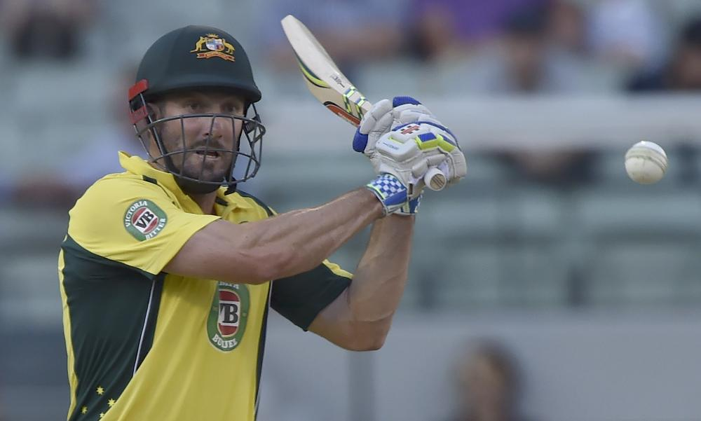 Australia's Shaun Marsh is humming along in pursuit of India's 295.