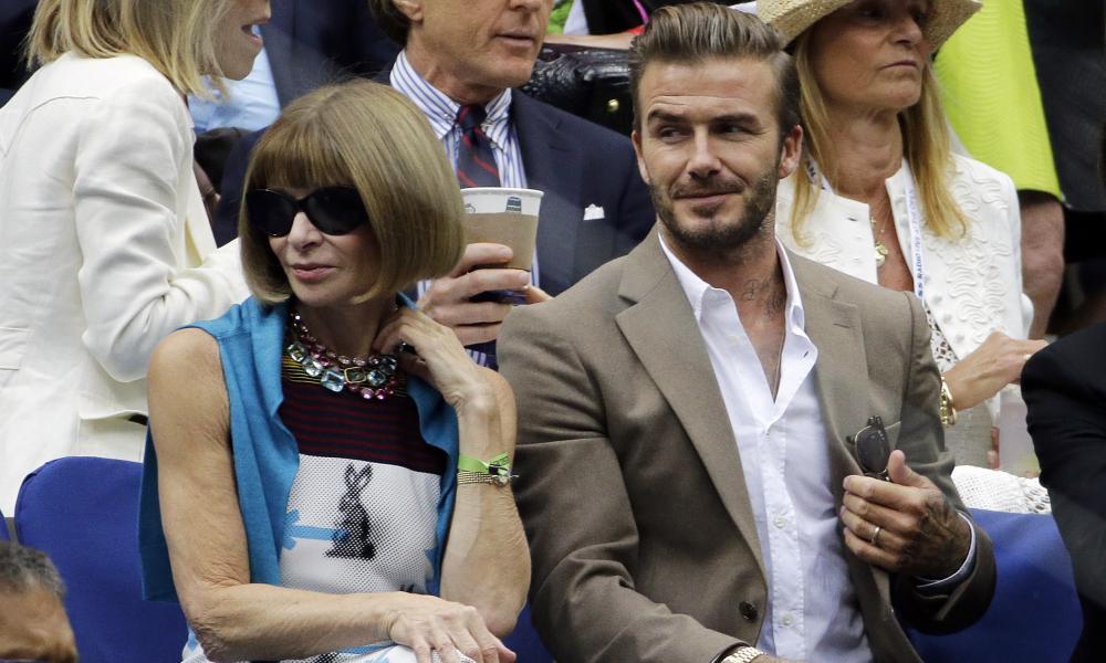 David Beckham and Anna Wintour