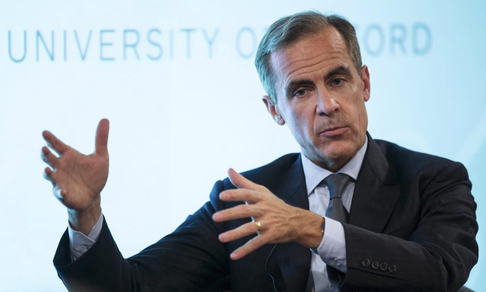 Bank of England governor Mark Carney makes a speech at the University of Oxford.