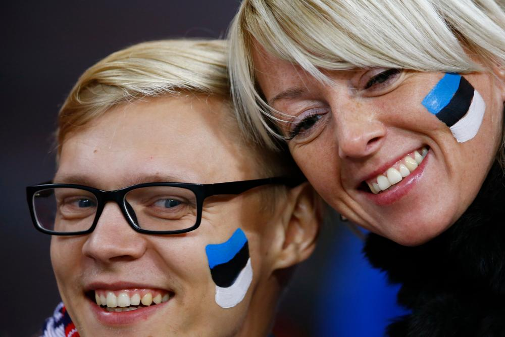 Estonia fans.