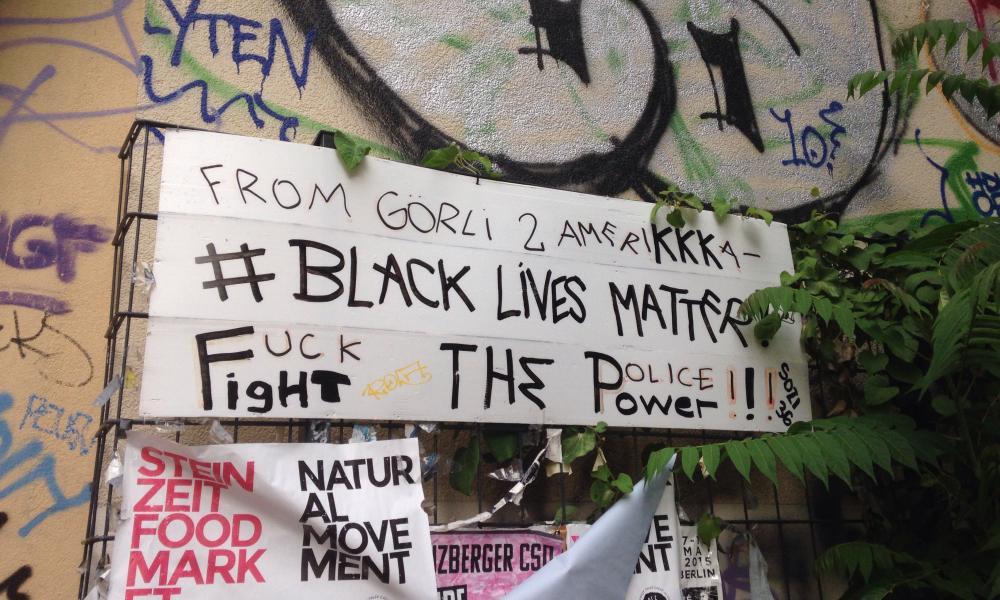 Graffiti in Gorli park reveals the racist undertones of the debate.