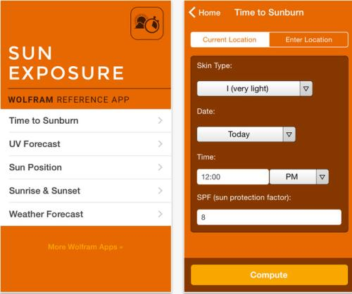 Wolfram Sun Exposure (iOS)