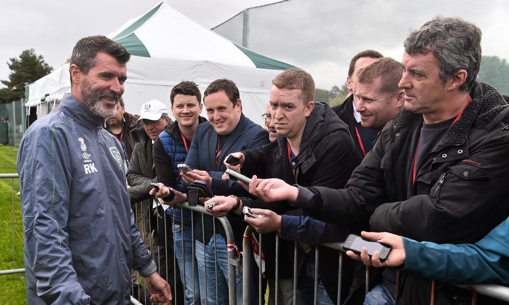 """Roy Keane was confident Robbie Keane would be available on Thursday """"unless he's breastfeeding he should be alright."""""""