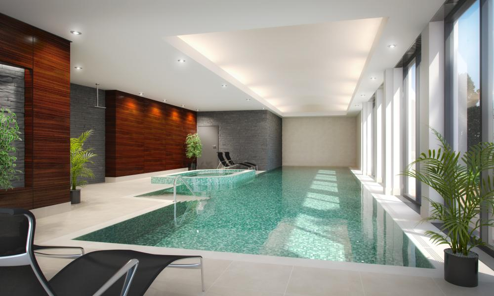 Swimming pool at Battersea Place
