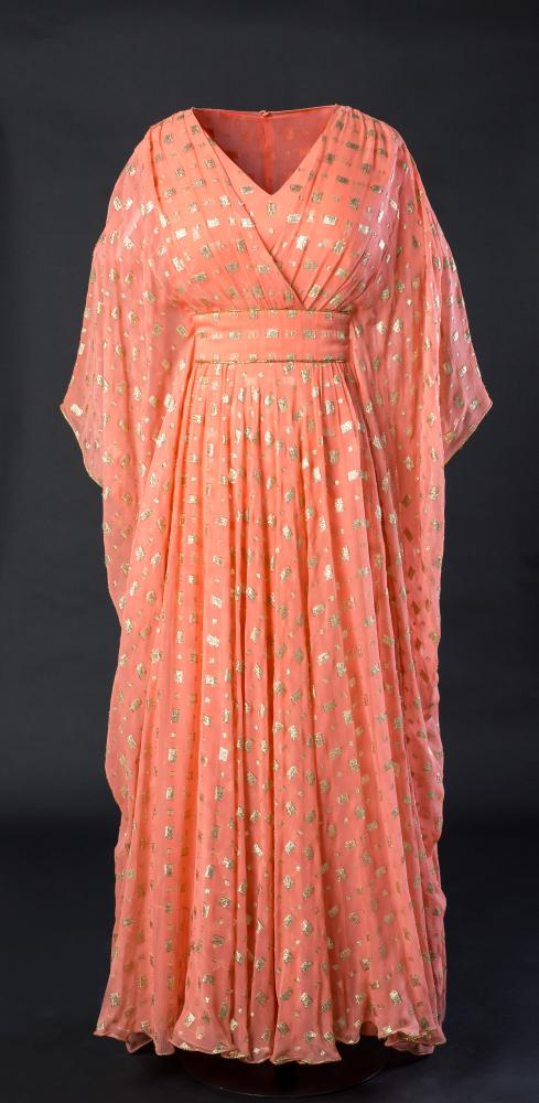A dress by Hardy Amies designed for The Queen from 1979.