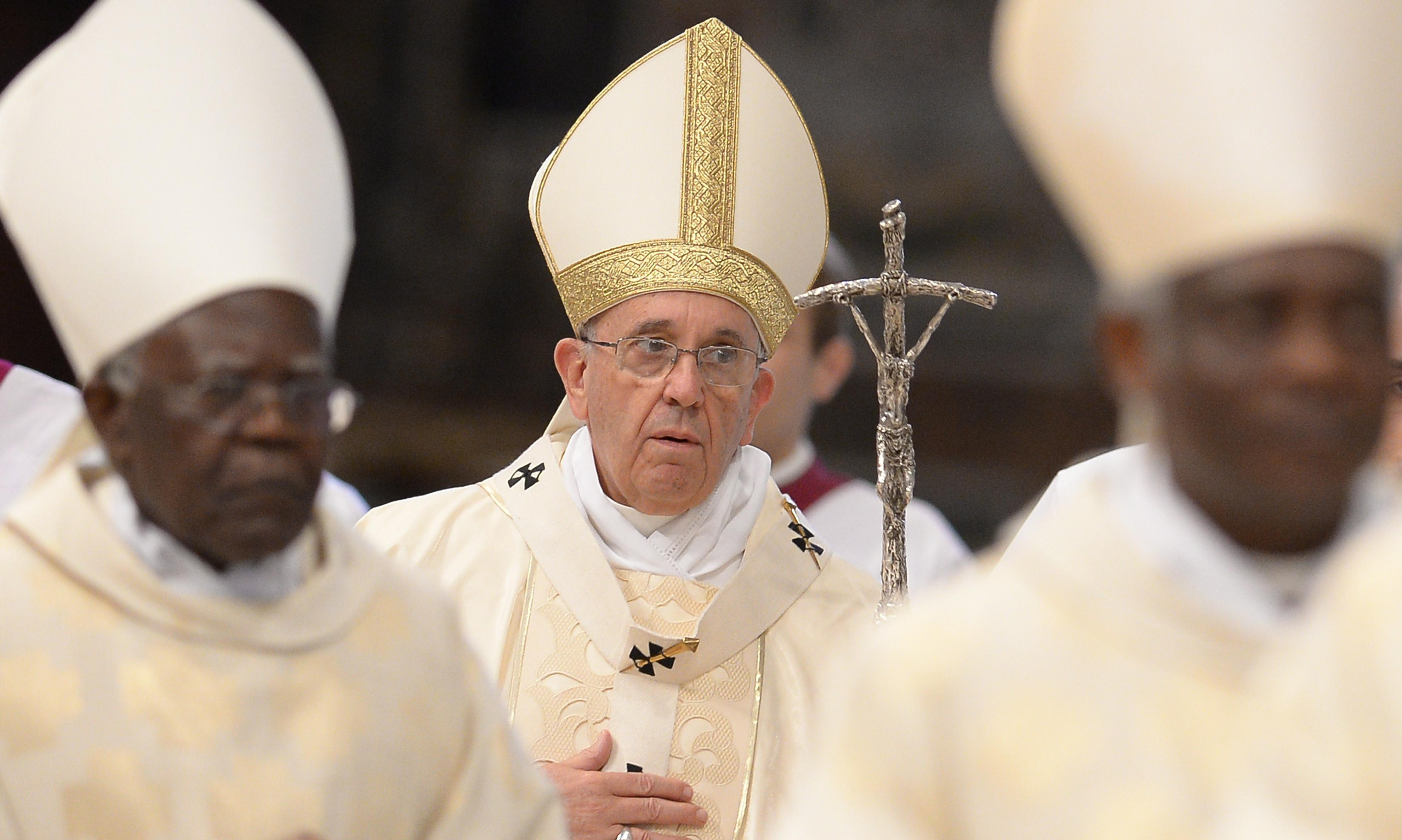 Pope says environmental sinners will face God's judgment for world hunger