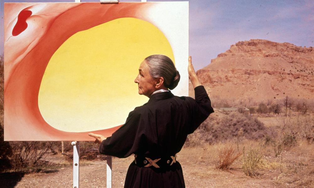 American painter Georgia O'Keeffe.