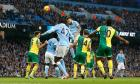 Manchester City stay top after late drama against Norwich City