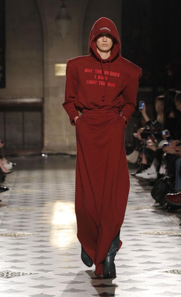 The tracksuit has become the emblem of a new iconoclastic mood in fashion. Vetements AW16.