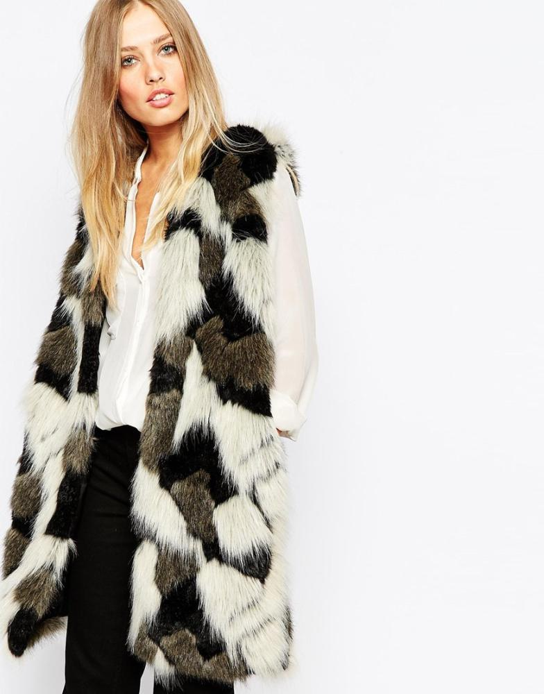 Whistles Patchwork Faux Fur Gilet, £195.