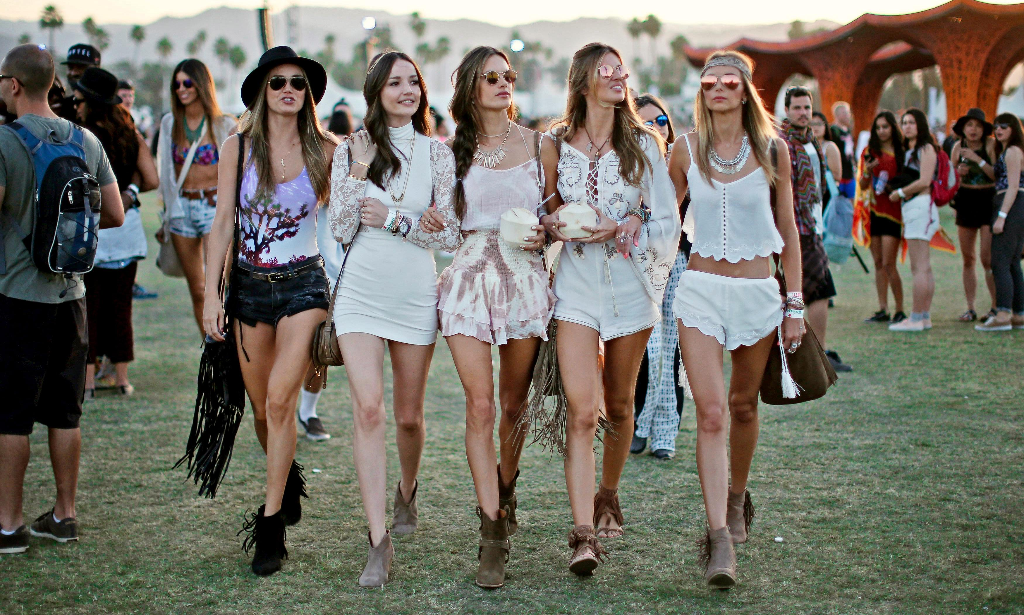 Since when were music festivals al fresco fashion shows ...