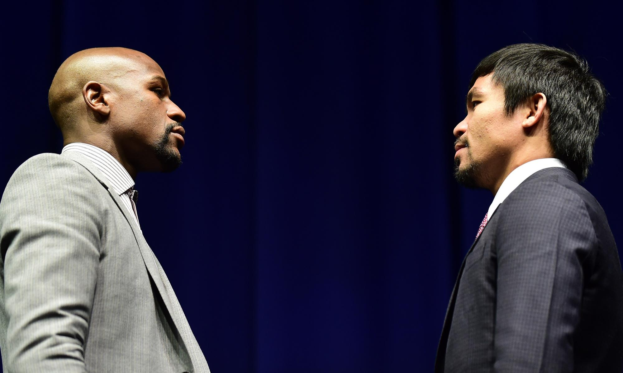 Floyd Mayweather Jr and Manny Pacquiao announce fight amid LA glitz