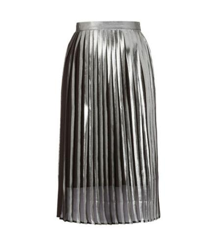 Whistles Metallic Pleat Skirt