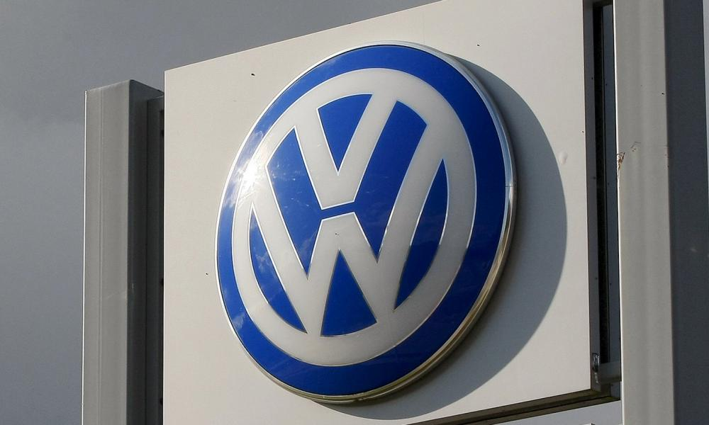 Sign at the Volkswagen Chattanooga Assembly Plant in Chattanooga, Tennessee November 4, 2015. Volkswagen told NHTSA that it would recall about 92,000 vehicles, which are some 2015 and 2016 models of Jetta, Passat, Golf and Beetle, in the United States. REUTERS/Tami Chappell