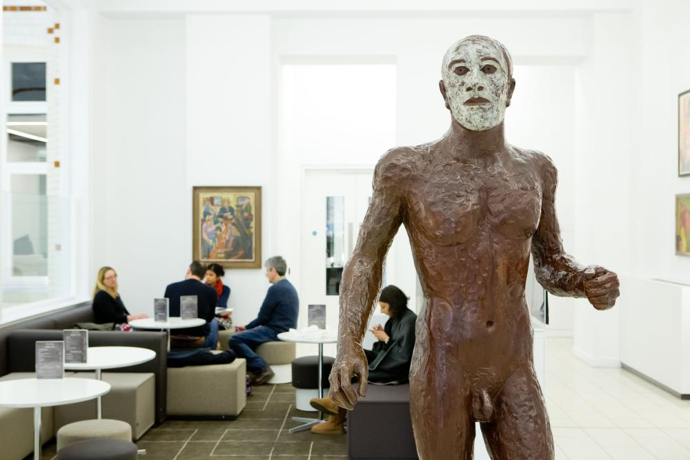 Waiting room .... Elisabeth Frink's Riace Figure III at the Royal College of GPs.