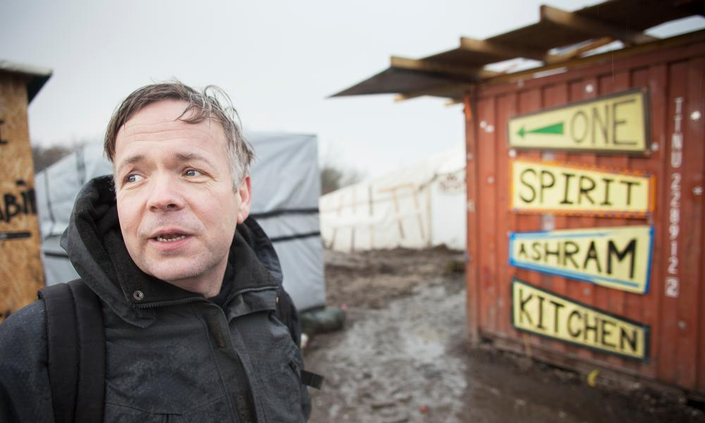 Leon Aart at his Calais 'Jungle' camp kitchen.