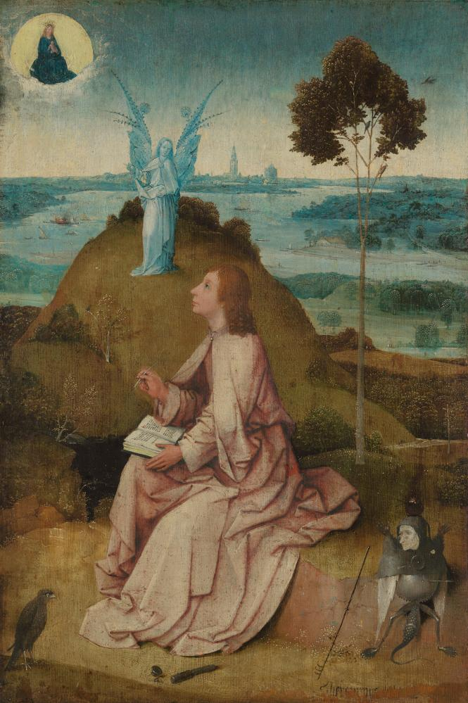 Spot the artist: Saint John on Patmos (detail) by Hieronimus Bosch.