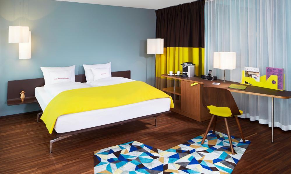 Bedroom in 25hours Hotel Zurich West.