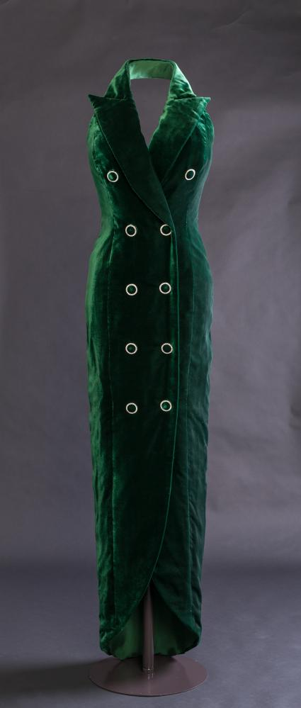 A Catherine Walker dress from 1992 designed for Diana Princess of Wales.